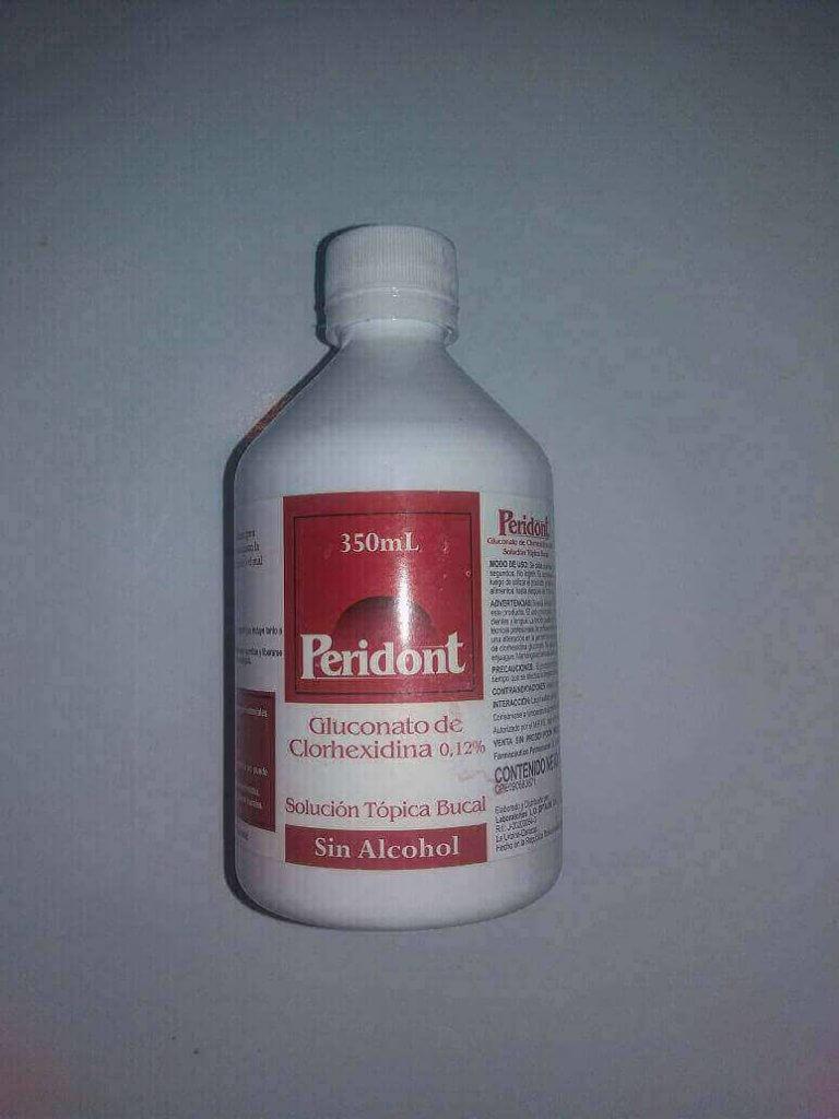 Enjuegue de clorexidina